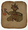 A seated deity (?) with a pitcher (?) (6125121994).jpg