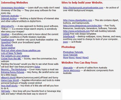 link sites