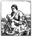 A woman washing her baby. Woodcut after W. Strang, 1904. Wellcome L0019101.jpg
