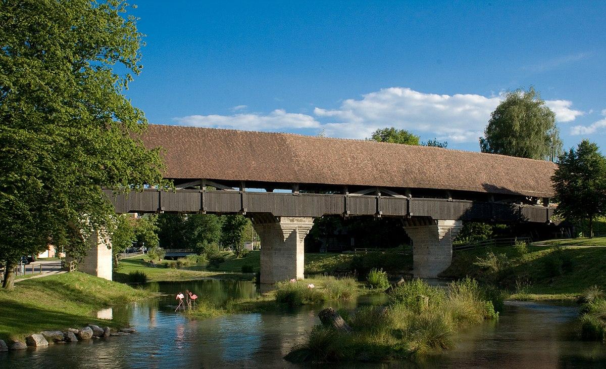 Pont en bois d 39 aarberg wikip dia - Pont en bois jardin ...