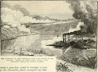 Battle of Fort Donelson - The gunboat attack on 14 February