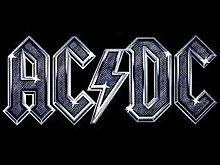 Logo AC/DC argent