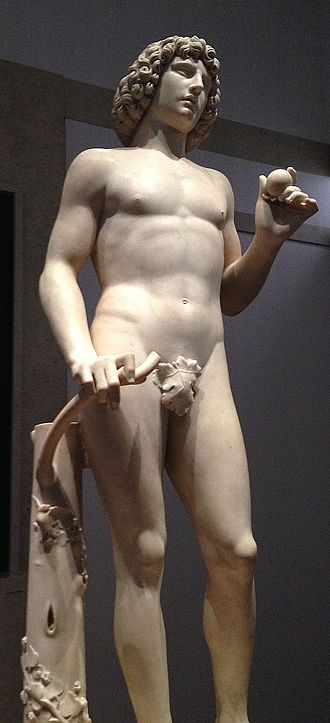 Tullio Lombardo - Sculpture of Adam after restoration process on exhibit at the Metropolitan Museum of Art
