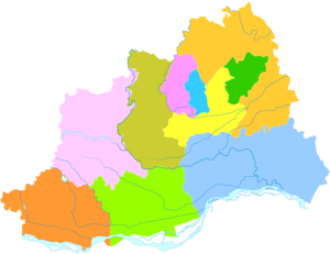 Jiaozuo - Image: Administrative Division Jiaozuo