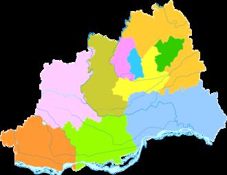 Jiaozuo - Image: Administrative Division Jiaozuo