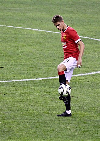 Adnan Januzaj - Januzaj playing for Manchester United in 2015
