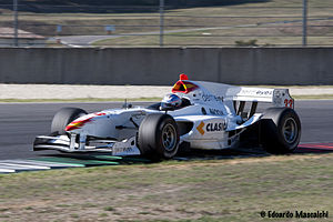 Adrien Tambay - Tambay achieved his only win of the 2011 Auto GP season for Campos Racing, at Mugello.