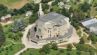 Goetheanum world center for the anthroposophical movement, including performance halls, in Dornach, Switzerland