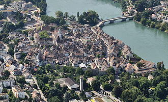 Rheinfelden - Aerial view at the historic centre