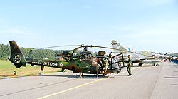 Aerospatiale Gazelle of French Armee de Terre, static display, Radom AirShow 2005, Poland.jpg