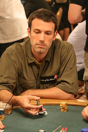 Ben Affleck at the 2008 World Series of Poker.