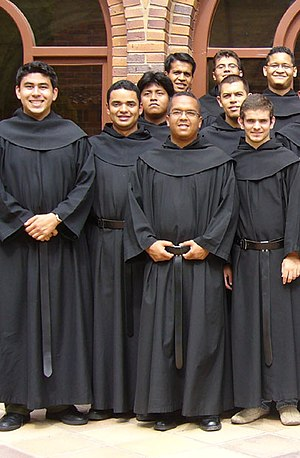 Friar - A group of friars; novices of the Order of Augustinian Recollects at the Monastery of Marcilla, Navarre
