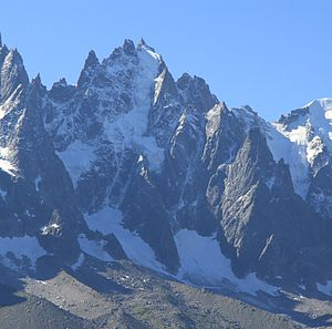 Émile Rey - The Aiguille du Plan from La Flégère, showing the Glacier du Plan descending from its summit