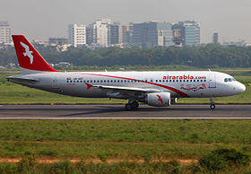 Air Arabia Airbus A320-214 A6-ABT Running For Take Off (8219311549).jpg