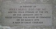 Airey Neave memorial Merton College