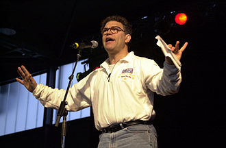 Al Franken - Franken entertaining troops at Ramstein Air Base in December 2000