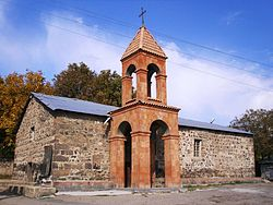 The church of Vardanavank built in 901, reconstructed in the 19th century