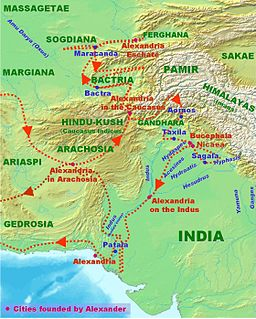 military campaign conducted by Alexander the Great into the northwestern Indian subcontinent