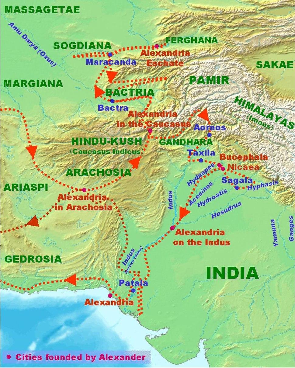 AlexanderConquestsInIndia