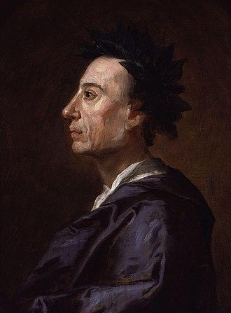 """Poème sur le désastre de Lisbonne - Alexander Pope was a target of the poem as a result of his declaration """"What is, is right"""""""