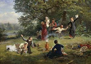 English: Alexey Korzukhin, The Sunday (1884) Р...
