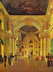 The Interior of the Great Church of the Winter Palace