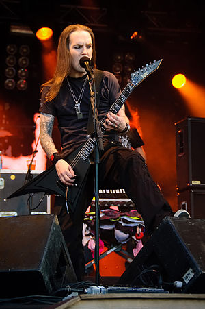 Alexi Laiho of band Children of Bodom at Ilosaarirock