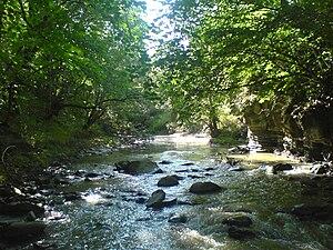 Algeti River - The Algeti River near Manglisi