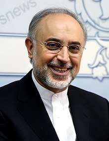 Ali Akbar Salehi in Fars news agency office - 3 October 2010 (cropped).jpg