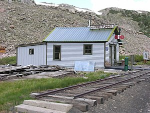 Denver, South Park and Pacific Railroad - Alpine tunnel telegraph station