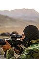 An Afghan National Army commando with the 1st Tolai, 3rd Special Operations Kandak scans the horizon during a clearing operation in the Shah Wali Kot district of Kandahar province, Afghanistan, Nov. 11, 2013 131111-A-XP635-059.jpg