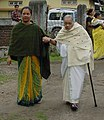 An old lady is being taking to the polling booth to cast her vote in 2nd phase of Assam Assembly Election-2006 at Tezpur, Assam on April 10, 2006.jpg