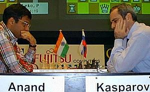 World Rapid Chess Championship - Viswanathan Anand and Garry Kasparov face off in the 2000 edition of the championship