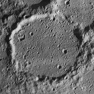 Anaximenes (crater) - Oblique Lunar Orbiter 4 image