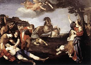 Andrea Camassei - The Massacre of the Niobids (between 1638 and 1639), Galleria Nazionale d'Arte Antica