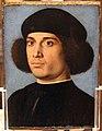 Andrea previtali detto cordeliaghi, ritratto d'uomo e memento mori, 1502 ca. (bergamo) 01.JPG