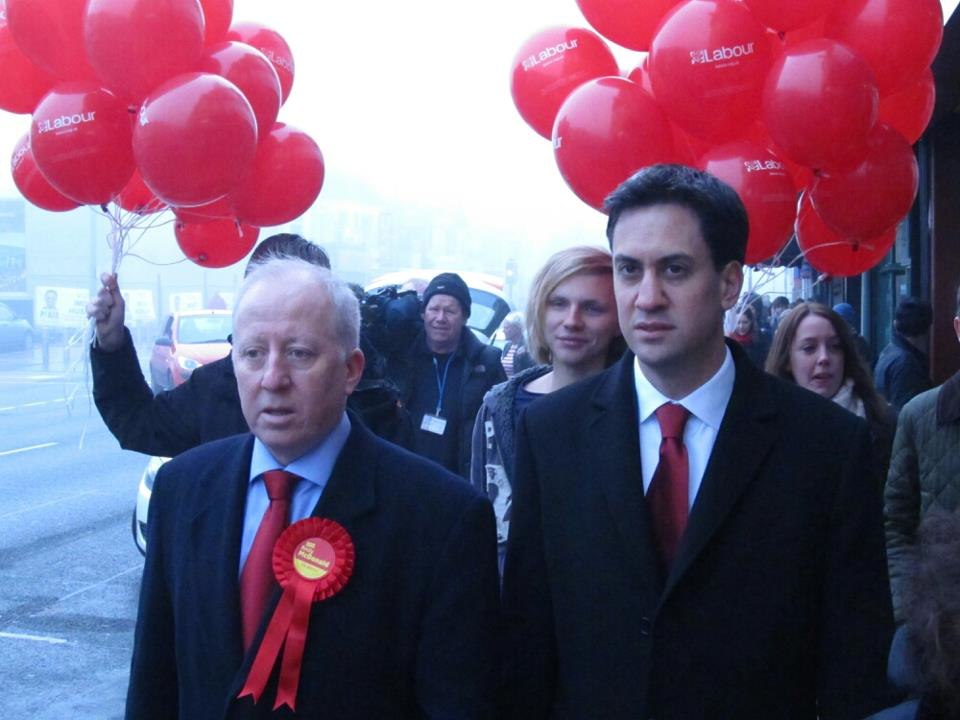 Andy McDonald and Ed Miliband in Middlesbrough, November 2012