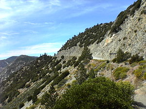 The Angeles Crest Highway that runs through th...