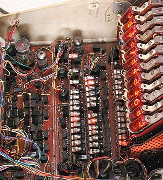 Sumlock ANITA calculator - Inside an operating ANITA Mk VIII.