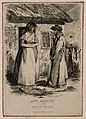 Anne Manning, a quack doctor, outside her cottage with Betty Wellcome V0007356.jpg