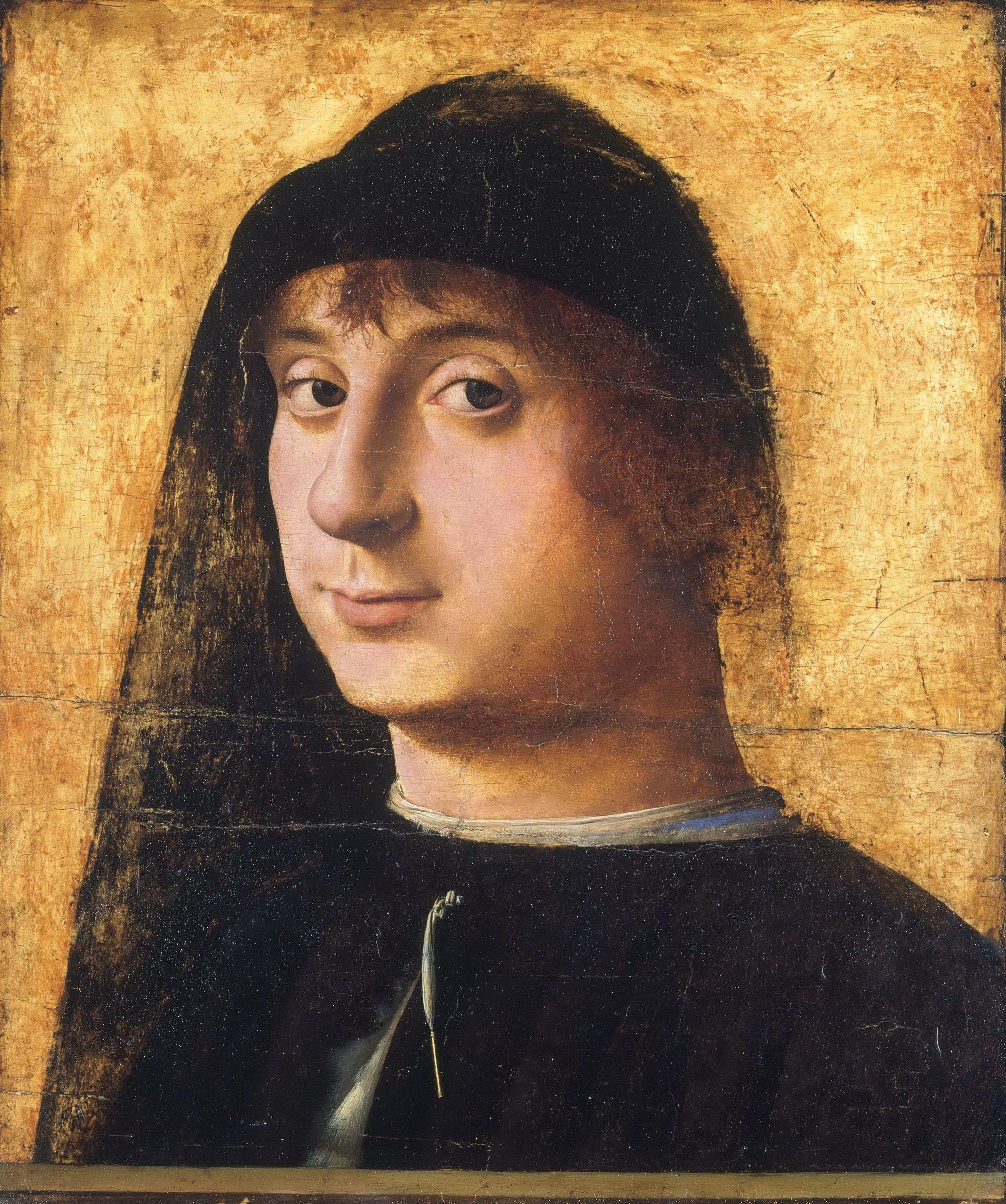 Antonello da Messina (1430–1479), Ritratto di giovane, 1474 circa, tempera e olio su tavola di noce, 31,5×26,7 cm, Filadelfia, Philadelphia Museum of Art