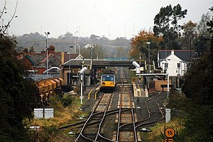 Antrim railway station - Image: Antrim Station geograph.org.uk 603505