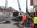 Anzin & Valenciennes - Travaux de raccordement des lignes A & B du tramway de Valenciennes à la Croix d'Anzin le 9 août 2013 (11).JPG