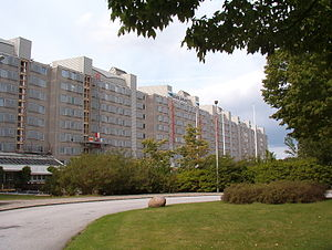 Rosengård - Image: Apartment complex in Rosengård, Malmö