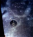 Apollo 16 Command and Service Module Over the Moon (9457443889).jpg