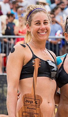 April Ross and Whitney Pavlik at the AVP Austin Open 2017 (cropped).jpg