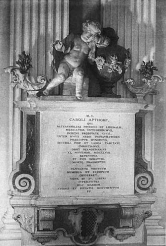 Charles Apthorp - Apthorp tablet in King's Chapel, Boston