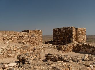 Tel Arad - The western gate of the lower Canaanite city excavations at lower Tel Arad