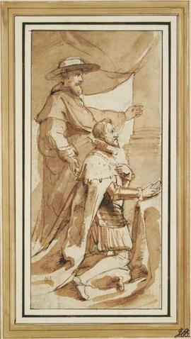 Archduke Albert with His Patron Saint, Albert of Louvain by P.P. Rubens (1640)