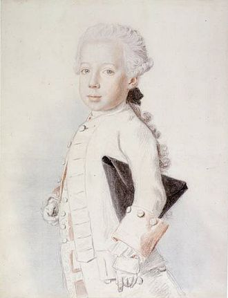 Archduke Maximilian Francis of Austria - Maximilian Franz at the age of 6 in 1762 by Liotard